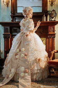 Henrietta -The Romantic Rose- Lolita OP Dress Set OP dress + 1 Headband),Lolita Dresses, Old Fashion Dresses, Old Dresses, Pretty Dresses, Beautiful Dresses, Vintage Dresses, Puffy Dresses, Quince Dresses, Mode Lolita, Fairytale Dress