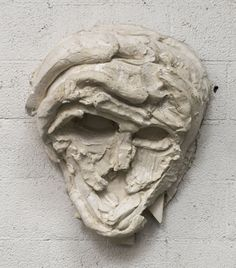 THOMAS HOUSEAGO Roman Masks II, 2013 Tuf-Cal, hemp, iron rebar