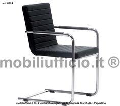 """art. H5LR #sedia #attesa o interlocutore con base a """"SLITTA"""" in tubolare di metallo fornito in estetica cromata. Il rivestimento della seduta e dello schienale può essere in ecopelle o tessuto con colore a scelta"""
