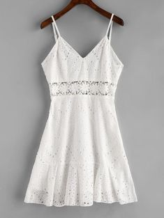 Crochet Panel Eyelet Cami Dress – Benovafashion Sun sun dresses plus size sun dresses with sleeves sundress outfits sundresses dresses sundresses for weddings dresses sundresses Wedding Invitations Trends 2019 Lace Summer Dresses, White Dress Summer, Summer Outfits, Cute Outfits, Dress Outfits, Dress Clothes, Summer Sundresses, Beach Outfits, Autumn Dresses