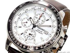 Seiko Mens Pilot's Solar Chronograph SSC013P1 - BEST QUALITY WATCHES
