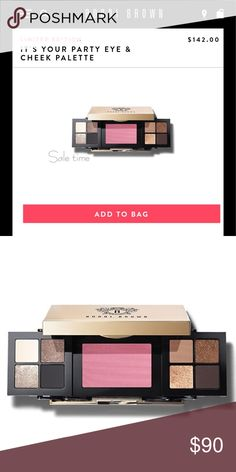 Bobbi brown it's your party eye and cheek palette Limited edition Bobbi brown it's your party eye and cheek palette new with box Bobbi Brown Makeup Eyeshadow
