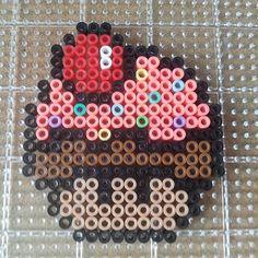 Cupcake mushroom perler beads by theravengirl956