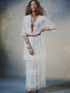 Free People Abby Mesh Embroidered Maxi Dress by Candela Anthropolgie Boho Gypsy Boho Gypsy, Bohemian Style, Boho Chic, Ibiza Style, Bohemian Decor, Hippie Dresses, Boho Dress, Free People Clothing, Free People Maxi Dress