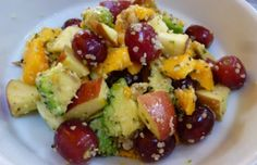 Fruit salad with avocado, hemp seeds and english walnuts - a healthy breakfast or a food combining faux pas? - Mytaste.com