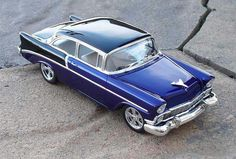 Revell `55 Chevy in Blue by Hawk 312