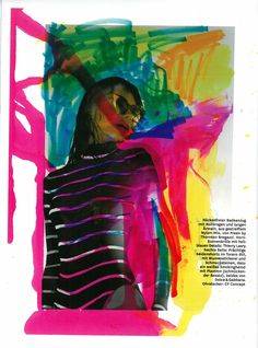 Stripes and color in Glamour Germany