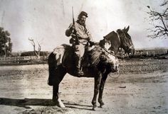 Mounted Senussi troops advancing towards the Suez Canal, Gaucho, Turkish Army, Horse World, Vintage Theme, Le Far West, Ottoman Empire, World War I, People Around The World, Troops