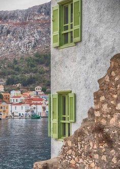 Kastelorizo island, Dodecanese, the last Greek island in south Aegean, Greecd Santorini Villas, Myconos, Greece Holiday, Greek Isles, Amazing Destinations, Travel Destinations, Secret Places, Crete, Athens