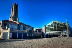 south end of casino with power station in Asbury Park