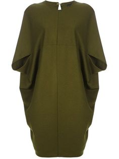 This cocoon dress could be transformed into a short sleeved coat by  shortening the length and made in a light to midweight wool. fd91596a7a