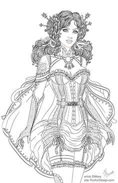 Brave Lily_line by dimary.deviantart.com on @DeviantArt