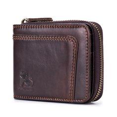 344c702bc231e4 RFID Blocking Secure Wallet Vintage Genuine Leather 13 Card Slots Money Bag  For Men - BazaShopping.
