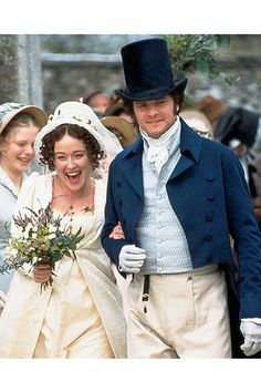 The Wedding - Jennifer Ehle (Elizabeth Bennet) & Colin Firth (Mr. Fitzwilliam Darcy) - Pride and Prejudice (TV Mini-Series, Colin Firth, Jane Austen, Bennet Sisters, North And South, Jennifer Ehle, Mr Darcy, Pride And Prejudice, Period Dramas, Good Movies