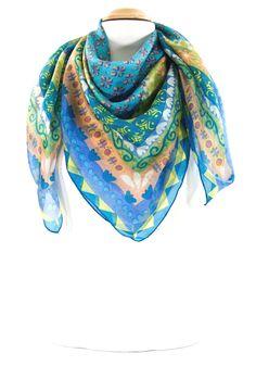 carré de soie foulard mini vert lola plame  foulard  carrédesoie ... b4d7a0bf018
