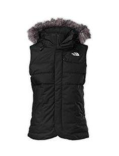 Northface vest. I don't normally like vests with this material but this looks cute and warm.