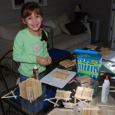 Magic Tree House Birthday Party - Popsicle stick tree house