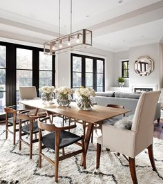 find this pin and more on dining 7 austin terrace transitional living room - Living Room And Dining Room Sets