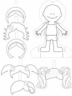 free paper doll templates to print and color. They'll keep your child busy for hours and make a great gift for your sponsored child. Book Design Templates, Quiet Book Templates, Quiet Book Patterns, Felt Patterns, Printable Templates, Print Templates, Free Printable, Printables, Felt Crafts