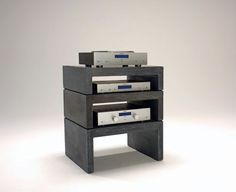Olo.li Modular Concrete HiFi Rack Concrete Furniture, Furniture Design, Audio Rack, High End Hifi, Electronics Online, Vinyl Record Storage, Rack Design, Hifi Audio, House Rooms