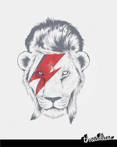 this AMAZING!!! my two loves...bowie and lions!!! definite tattoo...i just HAVE to!!!!