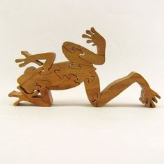 Frog Wood Puzzle by rjawoodworking on Etsy, $15.00