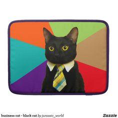 business cat - black cat sleeve for MacBooks