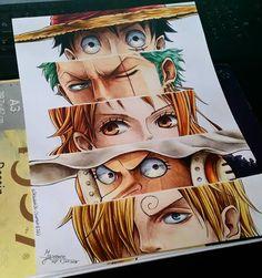 Luffy, Zoro, Nami, Usopp, Sanji...