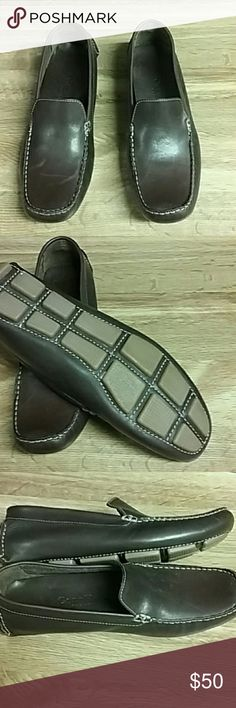 Cole Haan Women's  Slip On Women's Country Loafers.  7  1/4 AA.  Gently Used, worn one time.  Coffe Brown Color with tan stitching including bottom rubber sole. Open to negotiations. Shoes Flats & Loafers