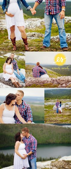 Country Chic maternity shoot in the mountains - Emily Sarah Photography