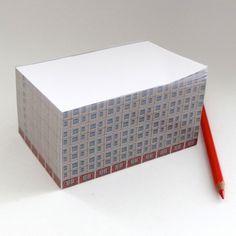 Notizblock / Ostblock / socialist housing block / note block from s.wert featuring a socialist housing block (Plattenbau) in Berlin Memhardstrasse