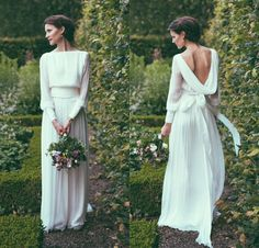 Such a beautiful, simple wedding dress by Norwegian designer Leila Hafzi