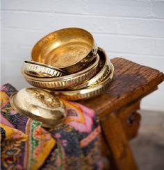 Brass hammam bowls