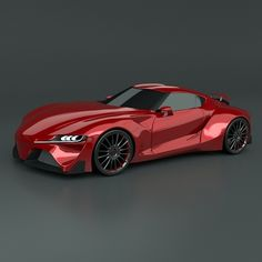model: Detailed exterior model of Toyota sports car concept with some redesigned details in comparing to real concept.Model was created with version.Rendering images with . Blender 3d, Car 3d Model, Nsx, Car In The World, Performance Cars, Rendering Engine, Concept Cars, Bronco Concept, Exotic Cars