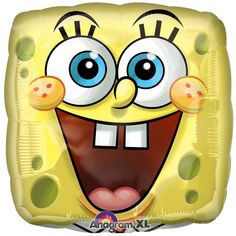 Check out Square SpongeBob Balloon (each) - Discount Party Supplies and…