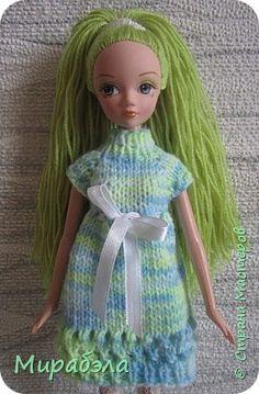 Всем привет! Предлагаю вам связать простенькое платье для кукол Kurhn. фото 1