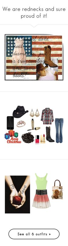 """""""We are rednecks and sure proud of it!"""" by animallover20 ❤ liked on Polyvore featuring Forever New, Current/Elliott, Dorothy Perkins, N.Y.L.A., Incase, LIZZY, Zales, Yves Saint Laurent, Chanel and Stila"""