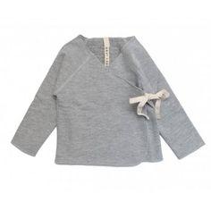 Gray Label - Baby-Wickelcardigan, grey melange