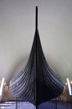 Viking ship by zement
