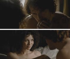 """Jamie: """"Claire... ye must realize what this means. This is my first real opportunity to gain a pardon. I can finally return home to Lallybroch. Take my rightful place as Laird of Broch Tuarach. And ye could be my lady. We'd be happy there. I know we would."""" Claire: """"As do I."""""""