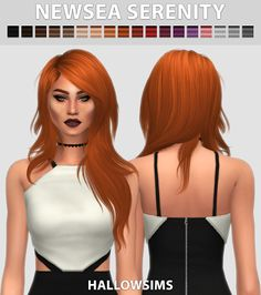 The Sims 4 by Kasia: Fryzura Serenity od Hallowsims