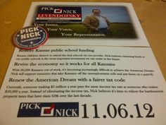 Look for these campaign flyers around the 106th District over the next few weeks.
