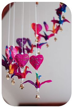 lovely origami bird mobile