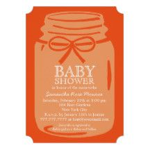 Any Color Mason Jar Baby Shower Card