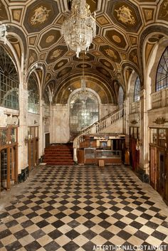Lobby of the abandoned Loews Palace Theater in Connecticut