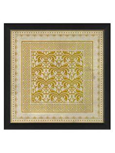 Yellow Tile 10 (Framed)
