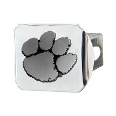 Clemson University Tigers Black with Chrome Paw Emblem NCAA College Sports Trailer Hitch Cover Fits 2 Inch Auto Car Truck Receiver