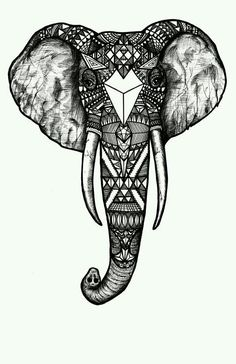 Resultado de imagem para elefante mandala pinterest