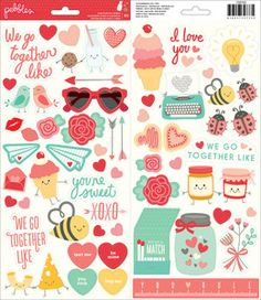 Pre-Order > We Go Together Icons & Phrase Stickers - Pebbles: A Cherry On Top