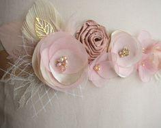 Cinturones y faja novia champagne marco de la boda por FloroMondo